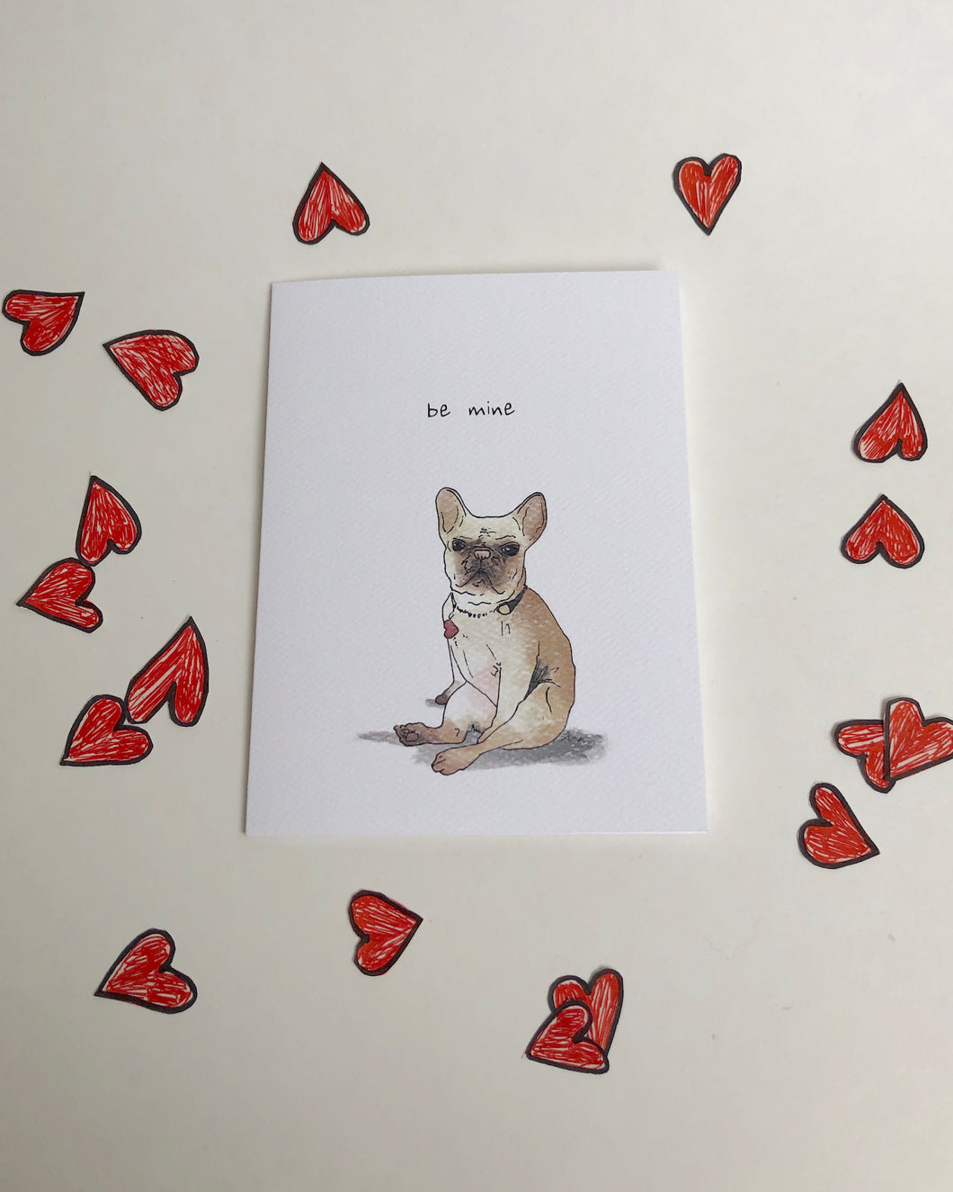 Be Mine Frenchie Card