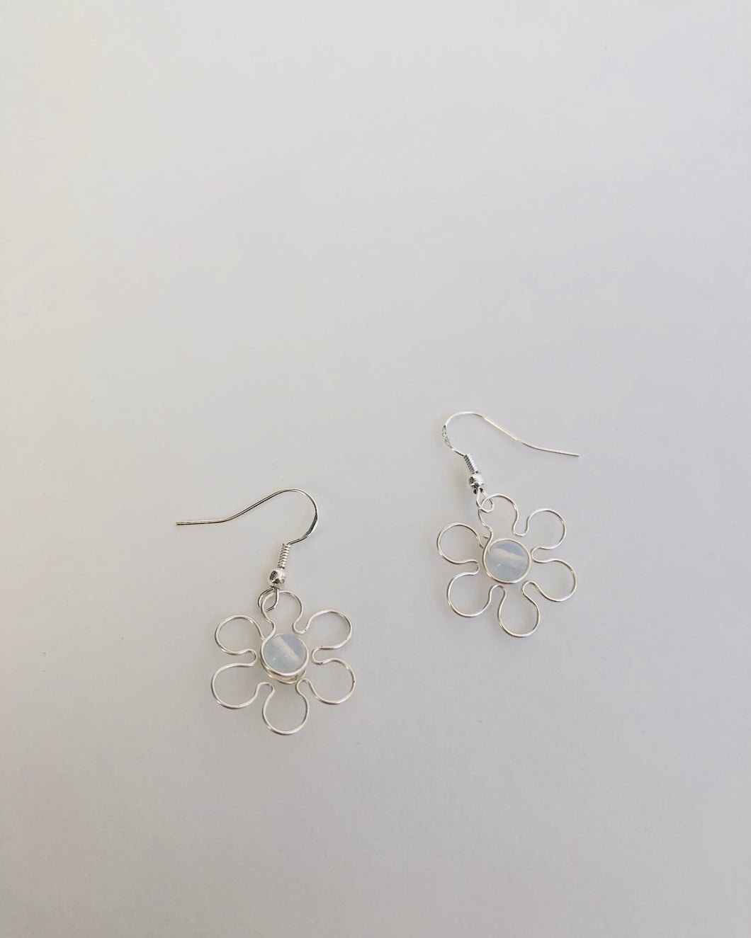 Floral Moonstone Earring