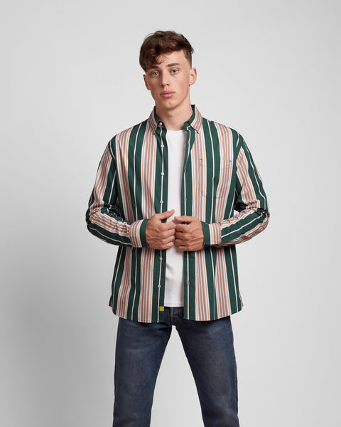 Traveller Stripe Printed Button Down