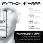 Python Facemask: Grey/White