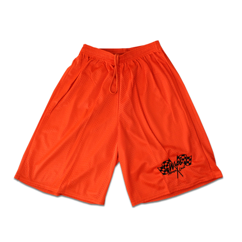 NEVER LAST BASKETBALL SHORTS - ORANGE