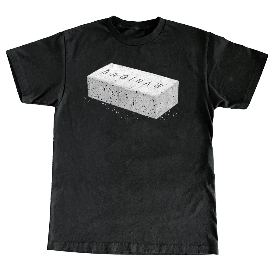 SAGINAW BRICK TEE - BLACK