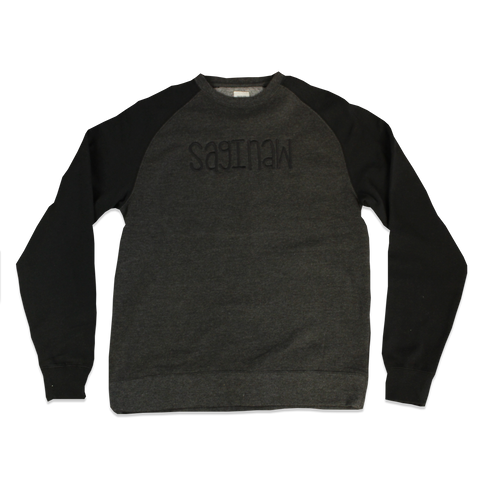"EMBROIDERED ""SAGINAW"" RAGLAN CREWNECK"