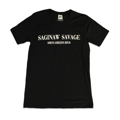 SAGINAW SAVAGE TEE - BLACK