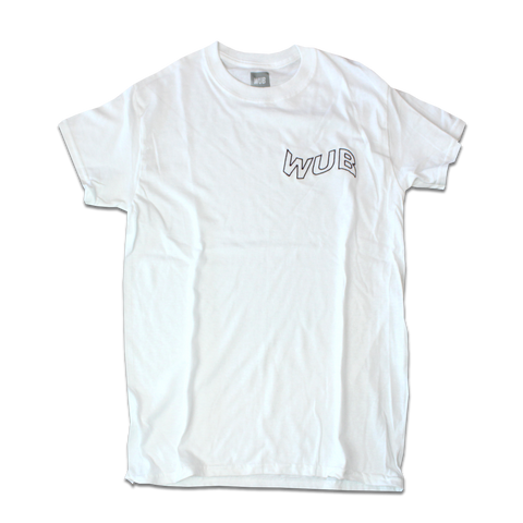 WAVE EMBROIDERED TEE - WHITE