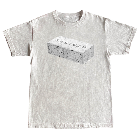 SAGINAW BRICK TEE - WHITE