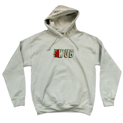 FLAME EMBROIDERED HOODIE - SAND