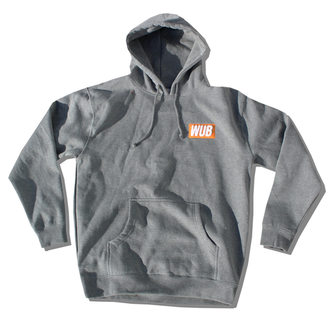 HEAVYWEIGHT CHENILLE PATCH HOODIE - GREY