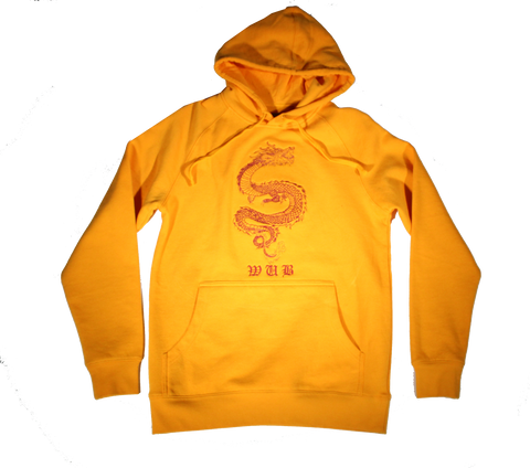 Dragon Embroidered Hoodie - GOLDEN YELLOW