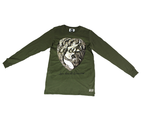 LOVE HAS ITS DEMONS LONGSLEEVE - OLIVE