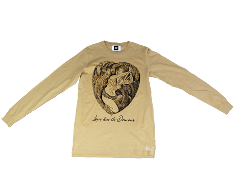 LOVE HAS ITS DEMONS LONGSLEEVE - SAND