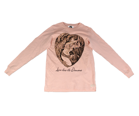 LOVE HAS ITS DEMONS LONGSLEEVE - PINK