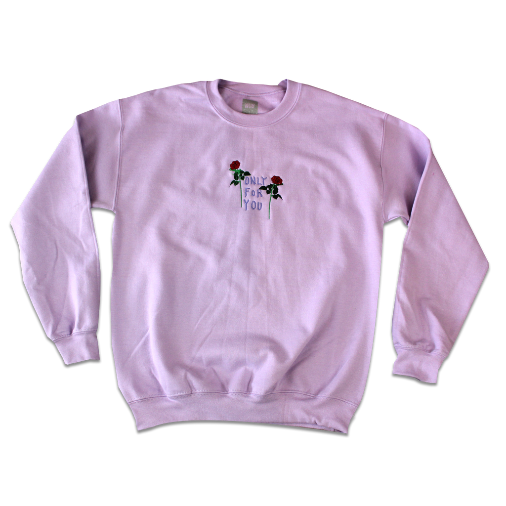 ONLY FOR YOU CREWNECK - LAVENDER