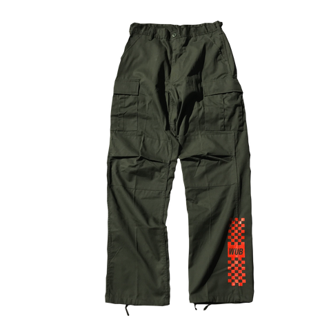 RELAXED RACE PANTS - OLIVE