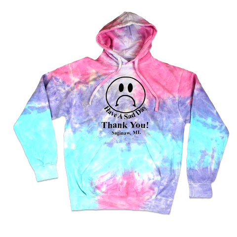 SAD IN SAGINAW BAG HOODIE - TIE DYE