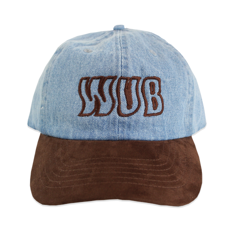 SKEWED CAP - DENIM / SUEDE