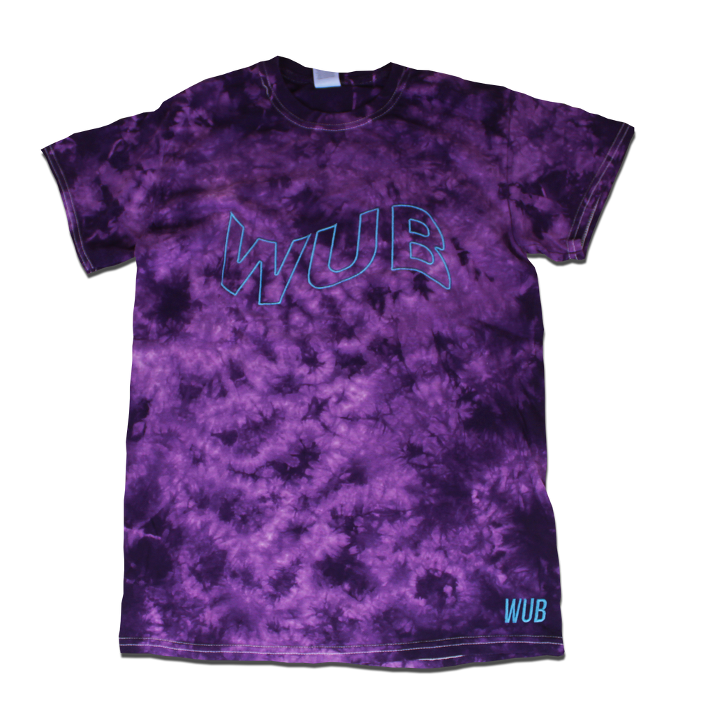 WAVE DYE TEE - PURPLE