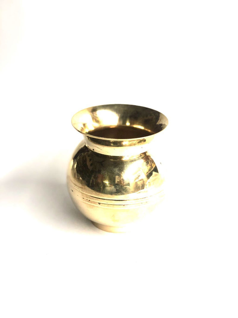 Brass Lota Pooja Accessories Kalash Antique Creations By Tamrapatra