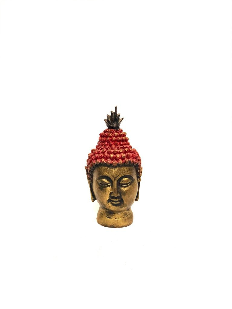 Buddha Face In Various Shades Indian Craftsmanship By Tamrapatra