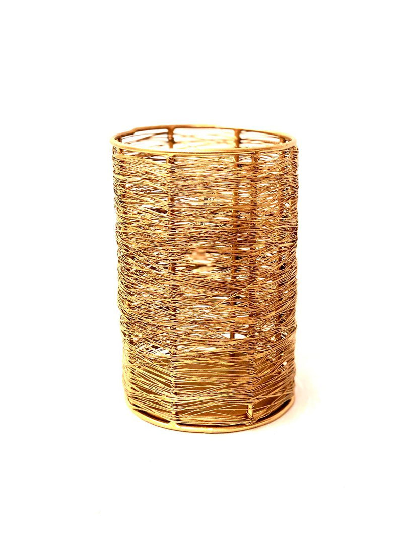 Wired Metal Design Candle Holder Decoration Lamps Gifting Tamrapatra - Tamrapatra