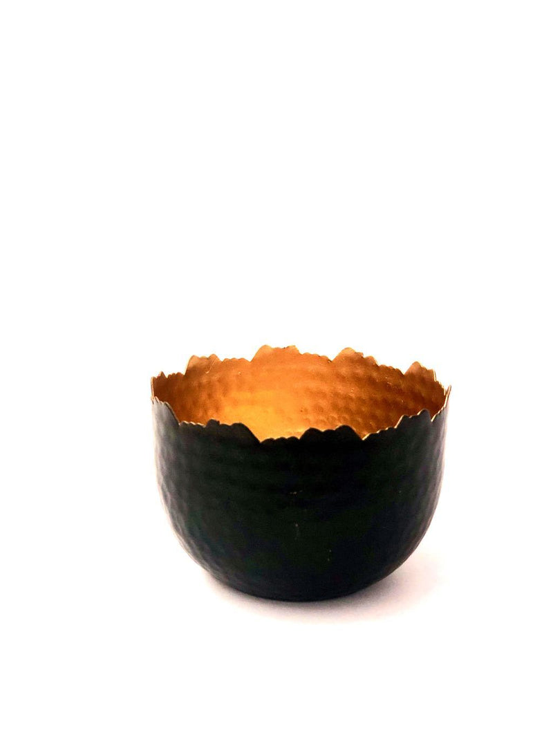 Votive Bowl Style Utility Tea Light Holder Metal Showpiece Tamrapatra - Tanariri Hastakala