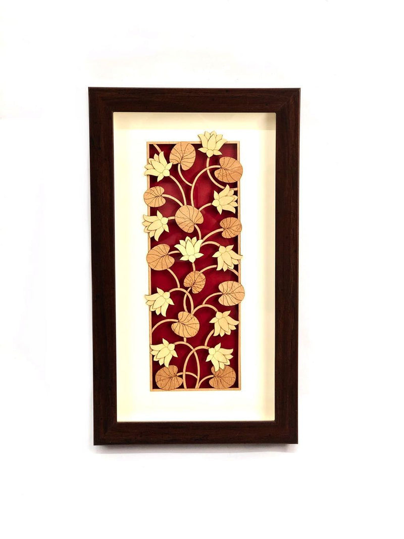 Floral Theme Based On Lovely Red Background Hanging By Tamrapatra
