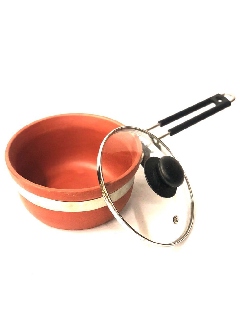 Superior Quality Frying Pan With Glass Lid & Easy To Handle Tamrapatra - Tanariri Hastakala
