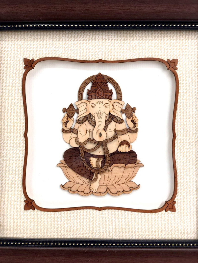 God Ganesha Wooden Creation Handcrafted Local Artisan Tamrapatra