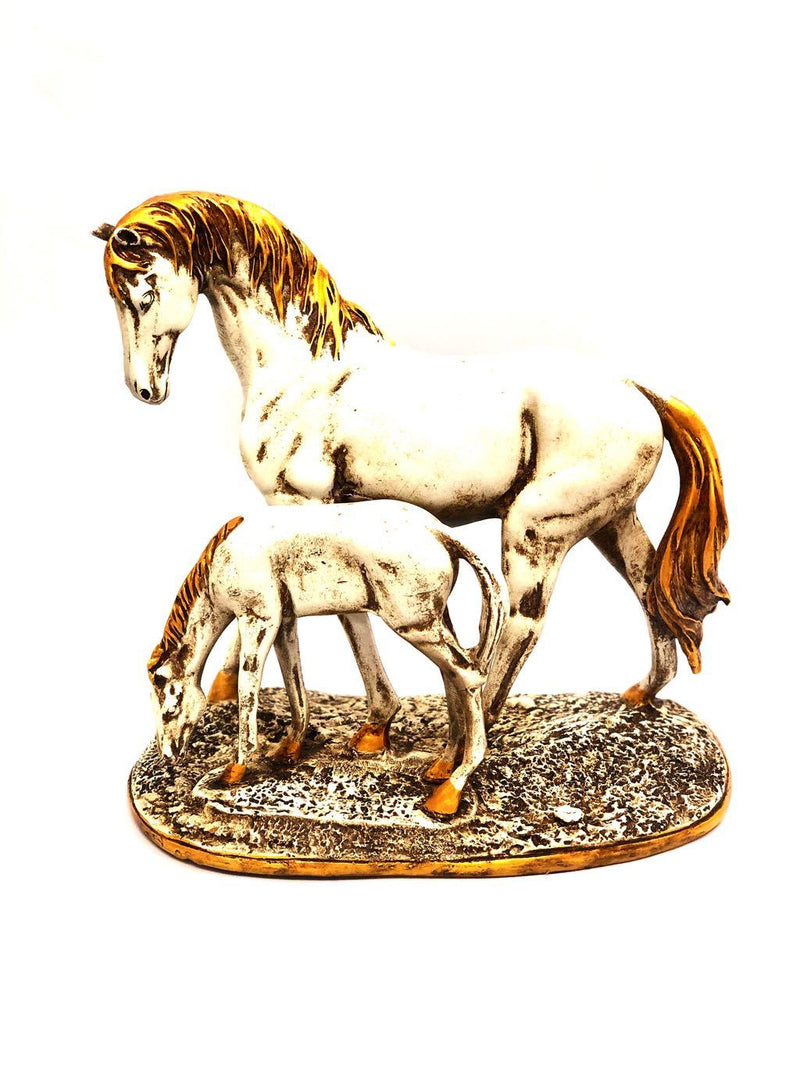 Horse With Foal Resin Art Creations Interior Ideas For Homes Tamrapatra