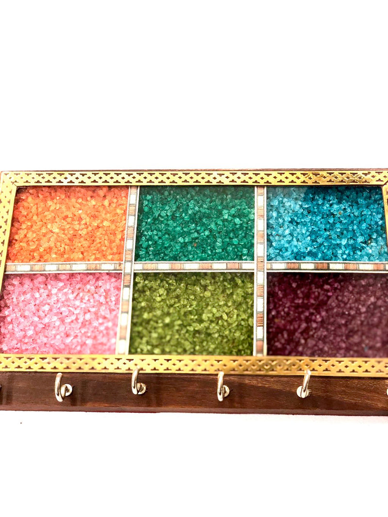 Key Holder Colorful Gemstones Attractive Home Utility By Tamrapatra - Tanariri Hastakala