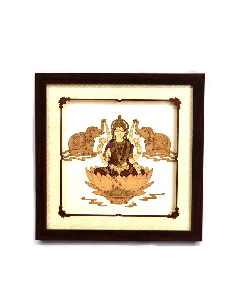 Goddess Lakshmi Wall Hanging Exclusive Wood Handcrafts Tamrapatra