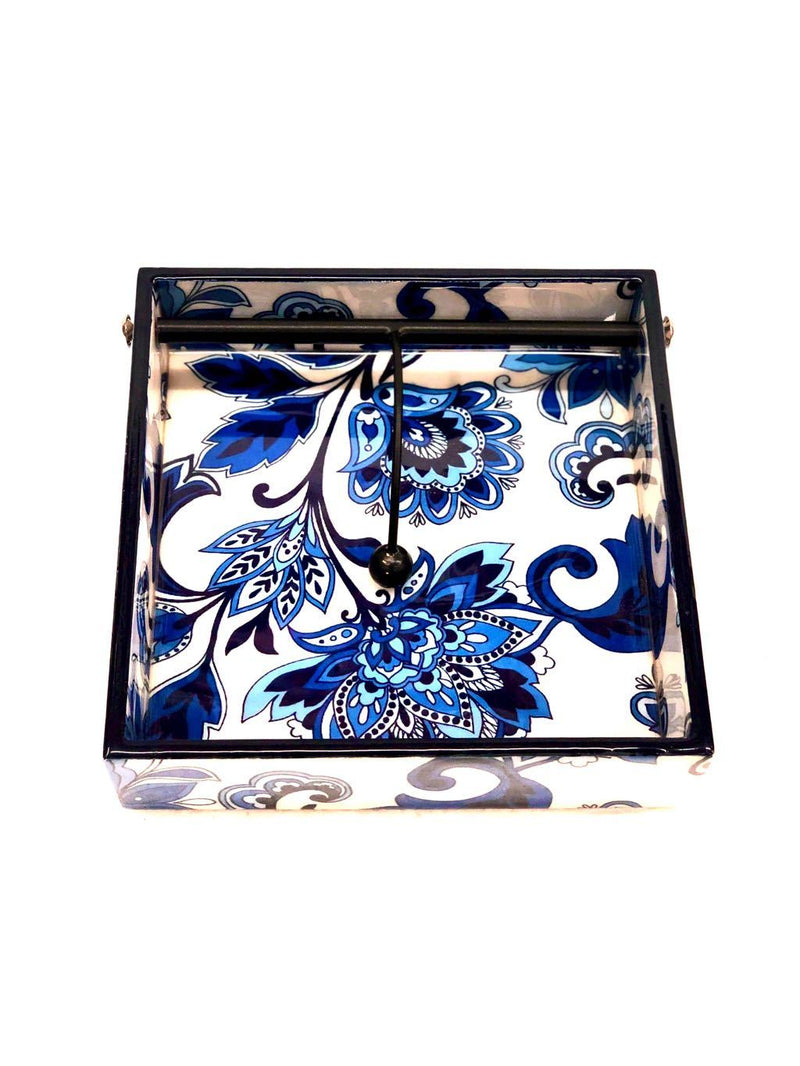 Wooden Enamel Printed Unique Designs Napkin Holder Wholesaler Tamrapatra