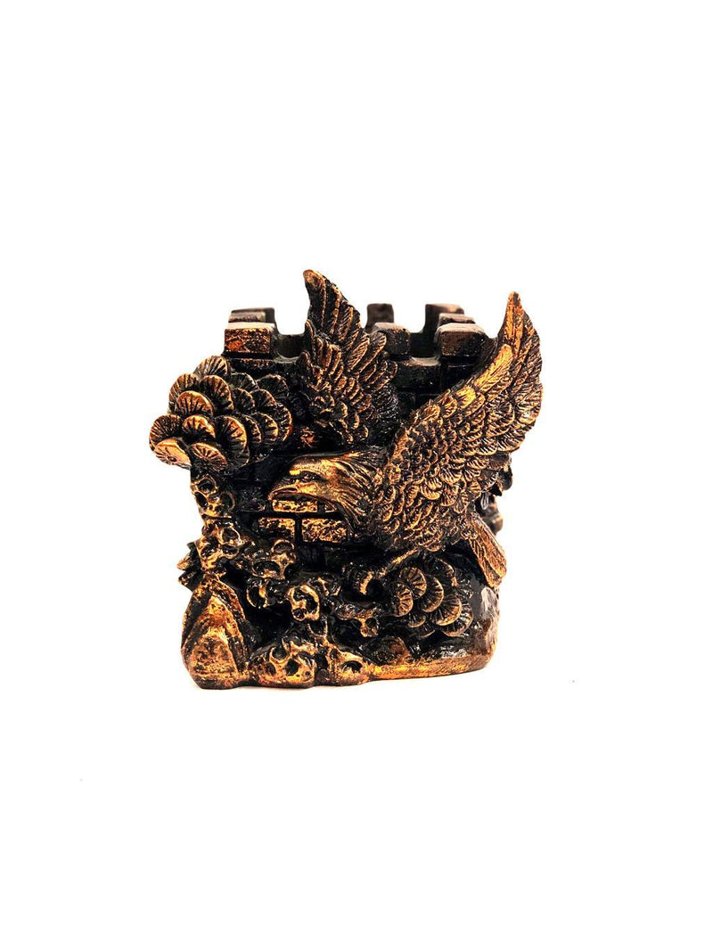 Eagle Style Resin Crafts Utility Pen Stand Excellent Quality By Tamrapatra