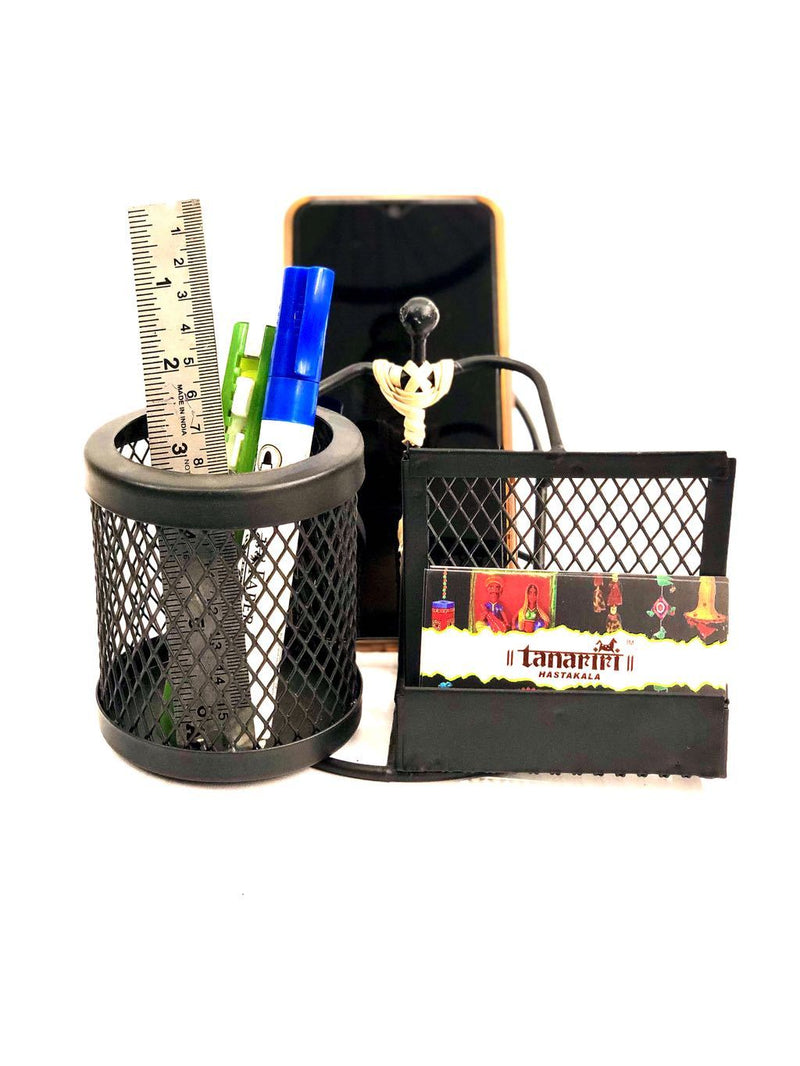 Modern Style Office Combo Mobile Pen Visiting Card Holder Tamrapatra