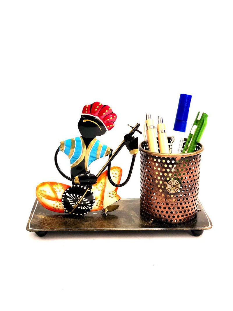 Indian Classic Musician Pen Holder Best Gifting Ideas For Office Tamrapatra