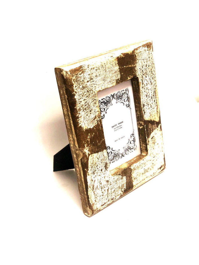 Wooden Photo Frame With European Rustic Style Gifts Range Tamrapatra
