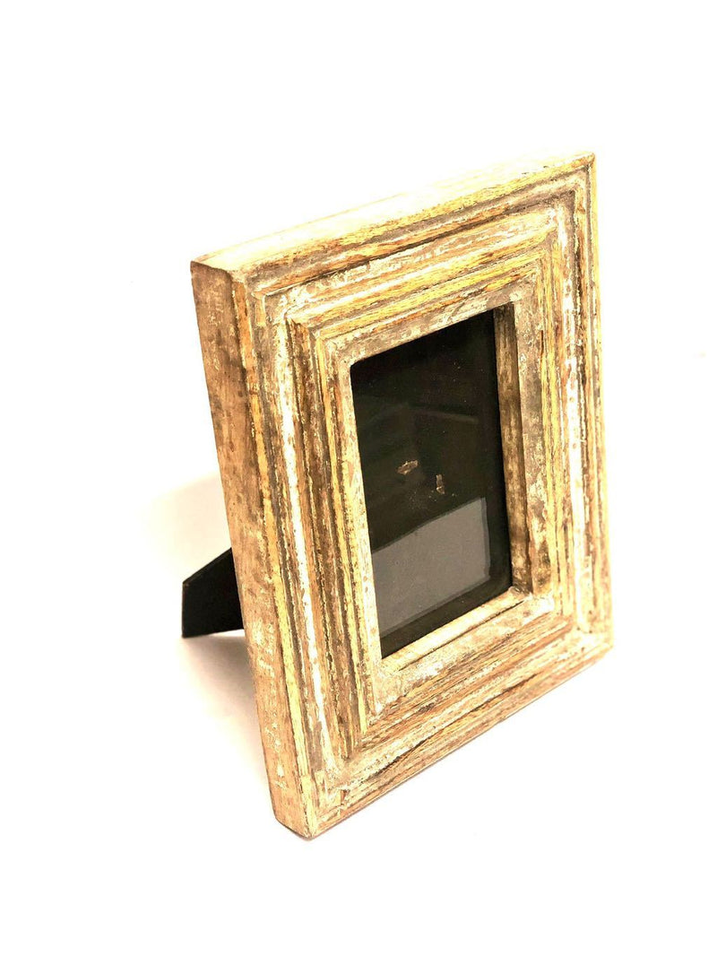 Rustic Finish Wooden Photo Frame For Gifting Your Loved Ones Tamrapatra