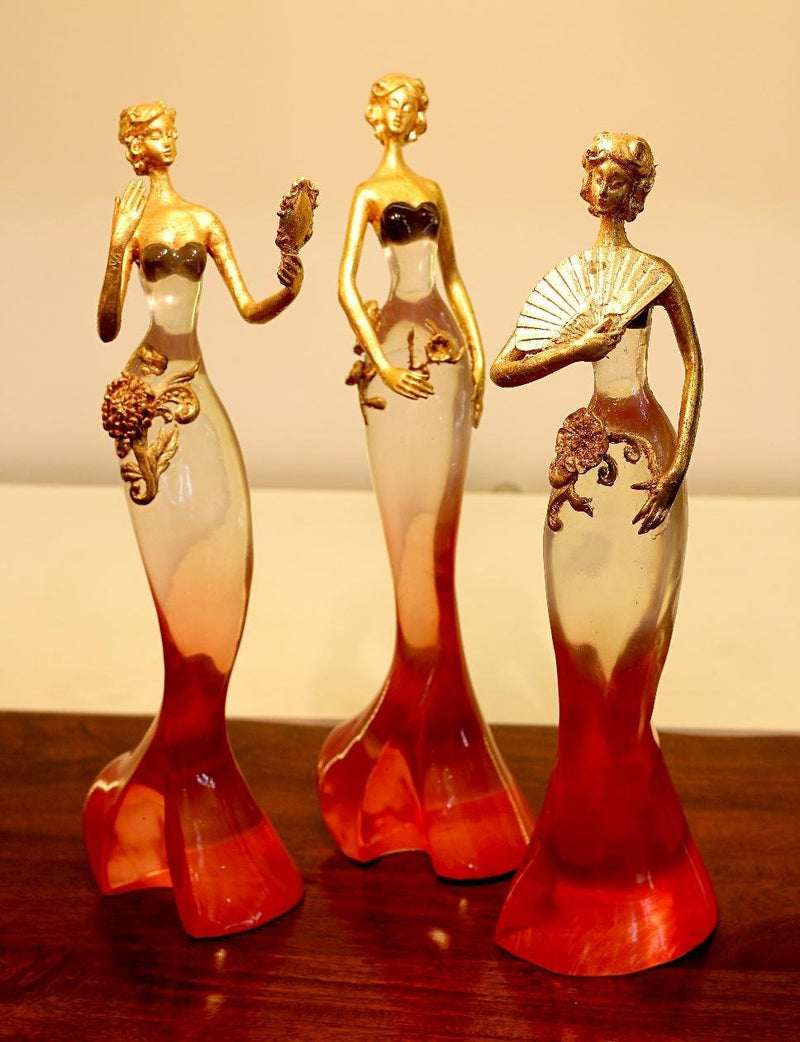 Amazing Masterpiece Of Woman In Various Style Resin Made By Tamrapatra
