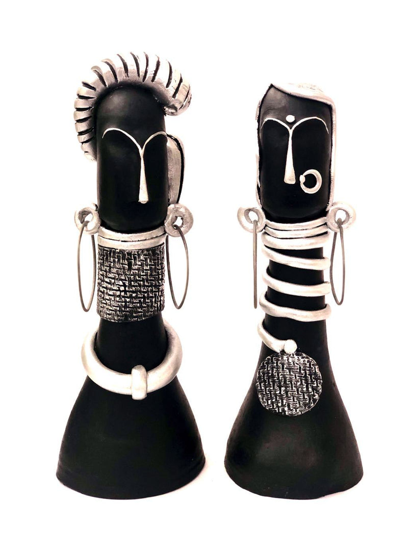 Couple With Exclusive Jewellery Handcrafted Precisely Clay Tamrapatra - Tamrapatra