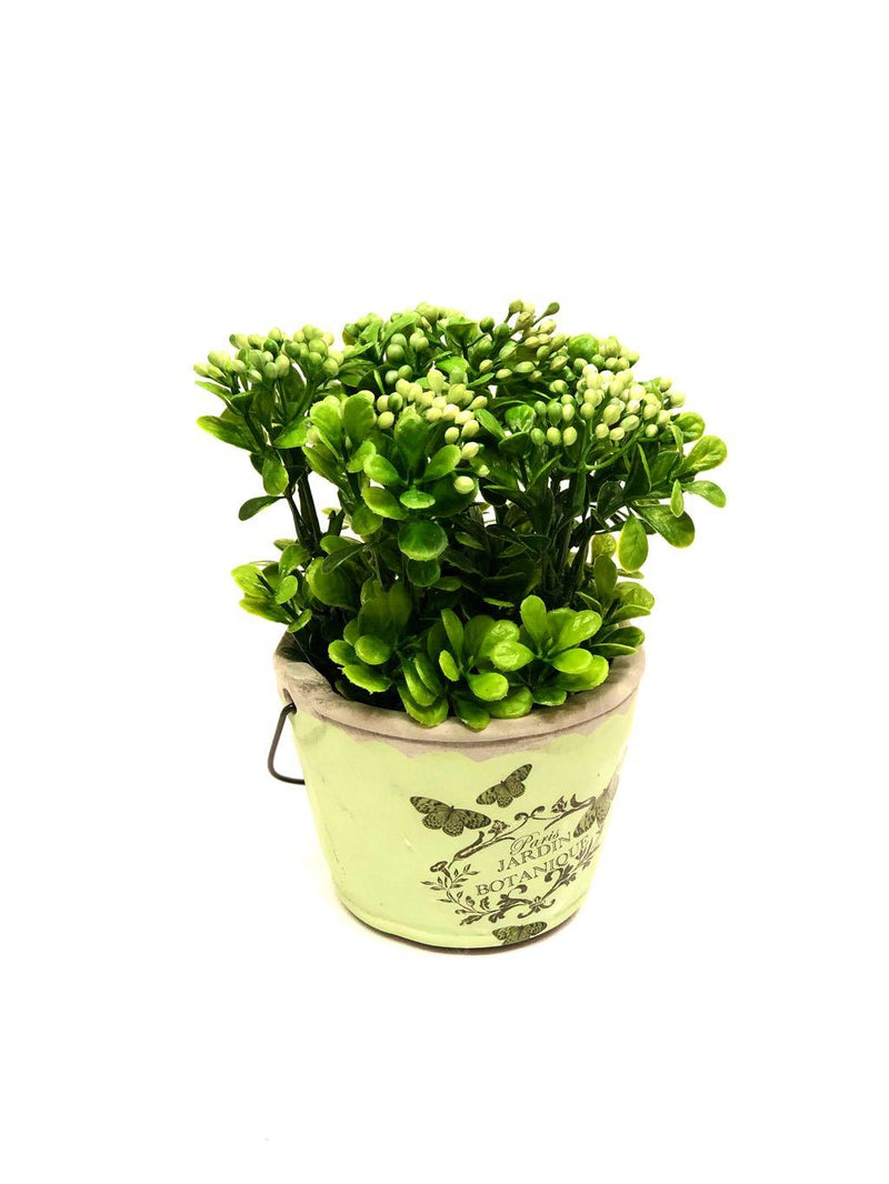 Bucket Style Artificial Tropical Plant Style In Various Shades Tamrapatra