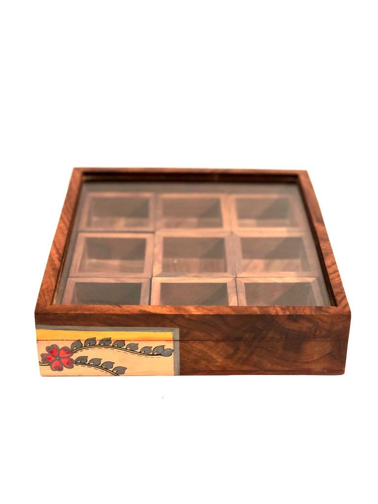SpiceBox Made With Best Quality Wood For Kitchen Purpose By Tamrapatra