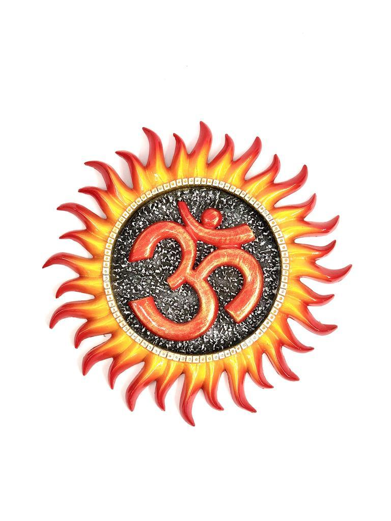 Attractive Design Surya With Om Resin Wall Artwork Sun Decor Tamrapatra