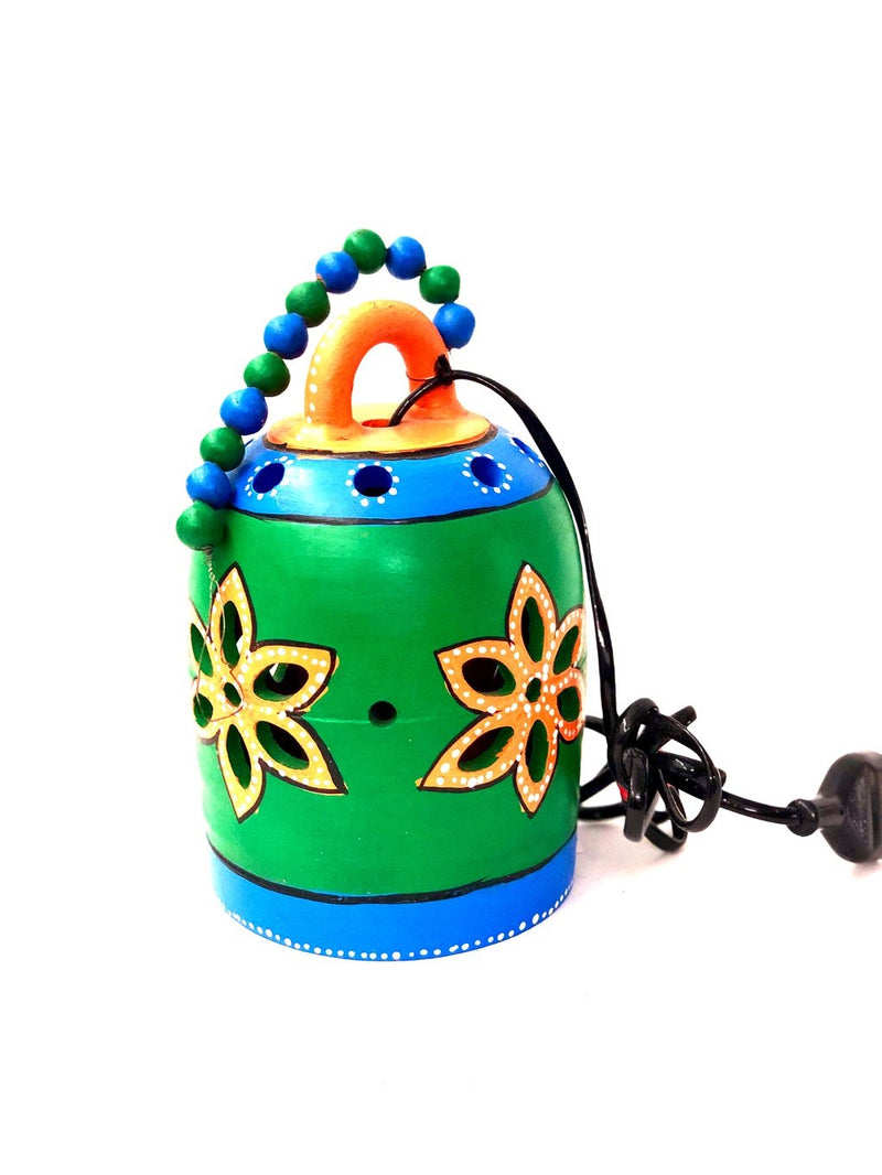 Lightings Colourful Terracotta Hangings Bell Shape Attraction Tamrapatra