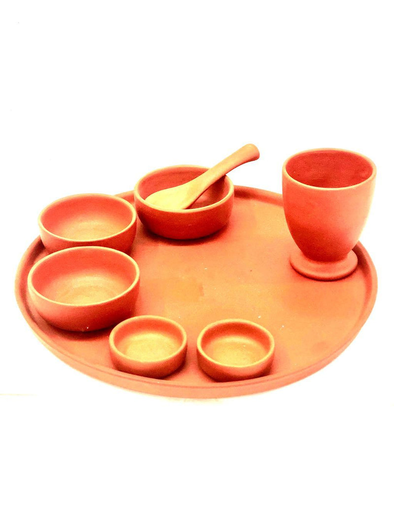 Exclusive Lunch & Dinner Thali For Home Use Perfect Gifting Tamrapatra - Tanariri Hastakala