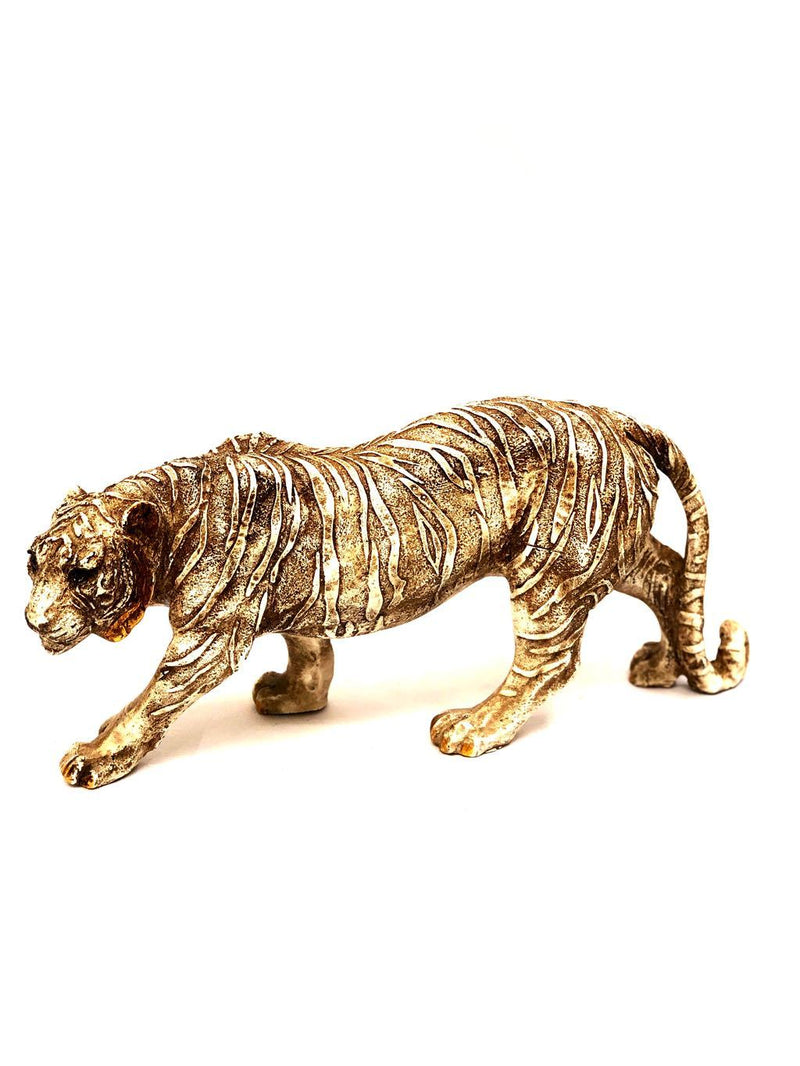 Peculiar Figure Of Walking Tiger Biggest Resin Art Collection Tamrapatra