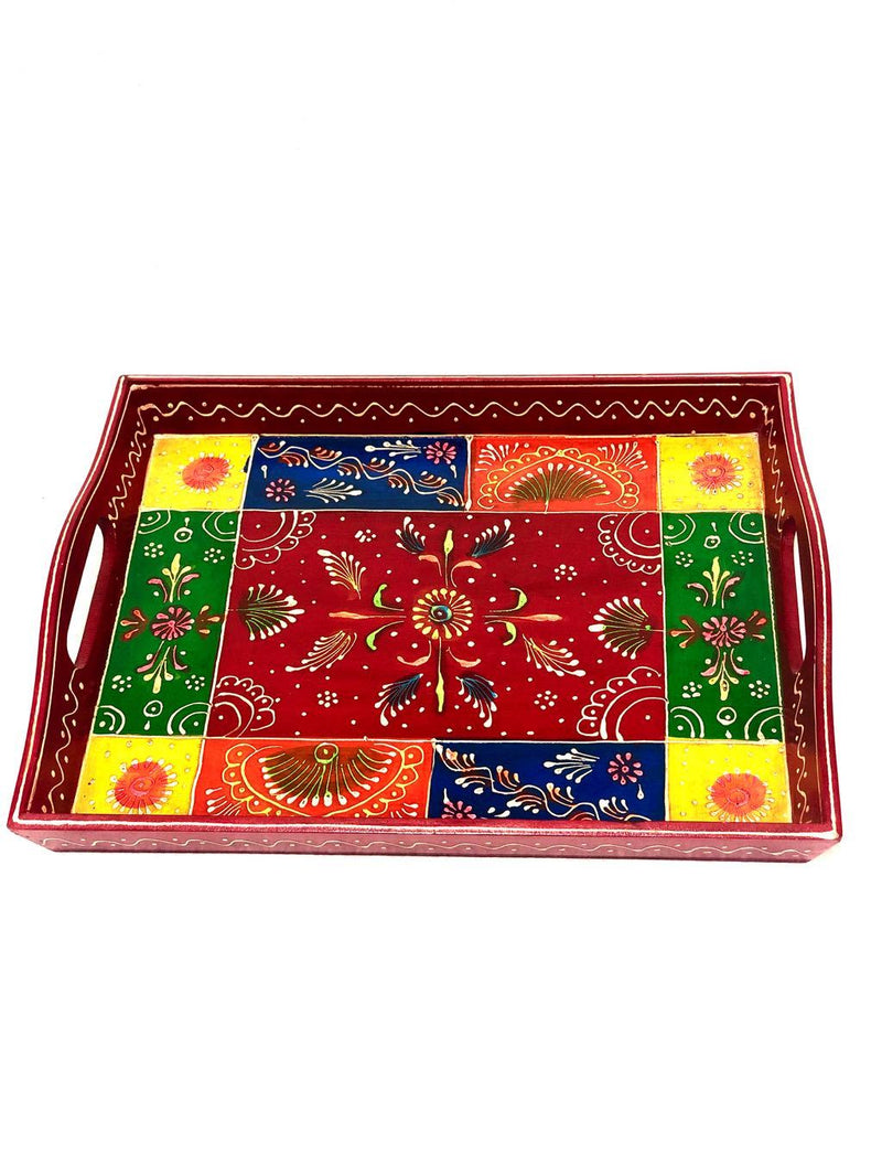 Utility Trays By Indian Artisans HandPainted Traditional By Tamrapatra - Tanariri Hastakala