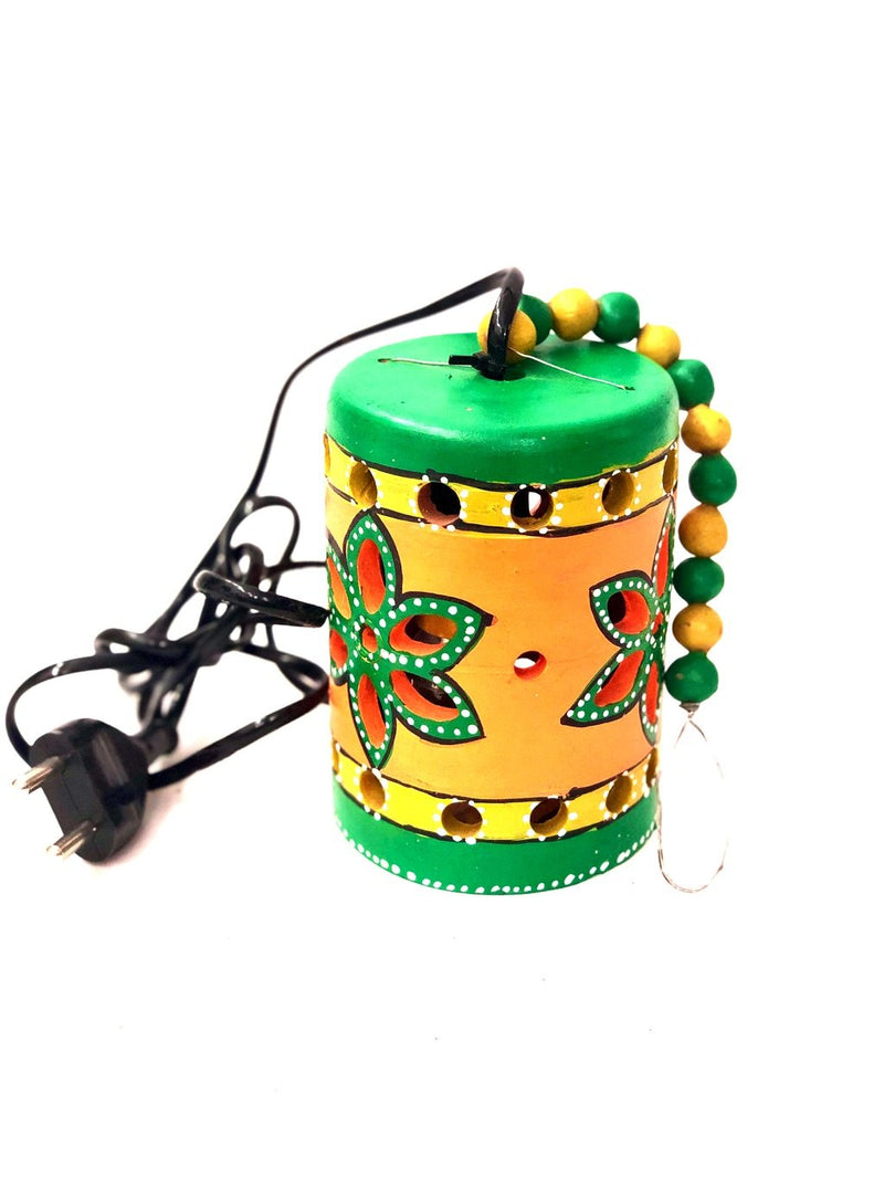Creative Hangings Lamps Colorful Painted Lightings Decor Tamrapatra