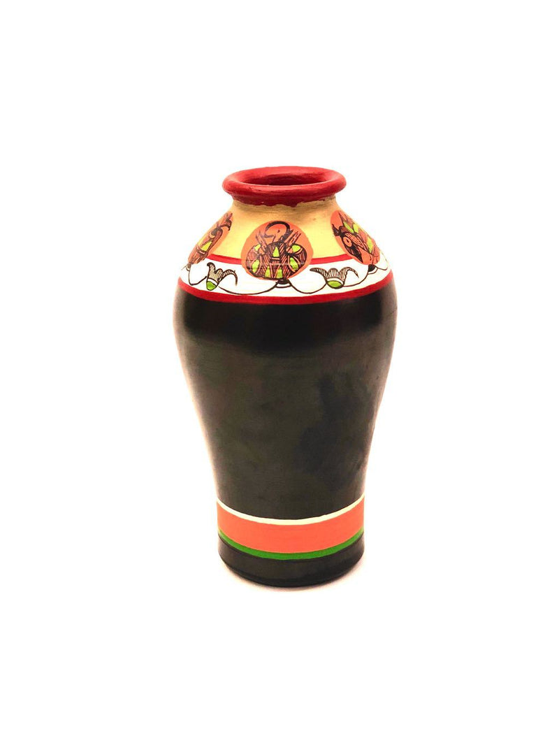 Madhubani Hand Painted Bottle Shape Pots By Skilled Artisans Tamrapatra - Tamrapatra