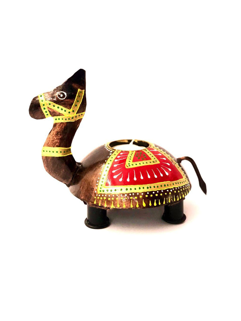 Animal Multicolored Tea Light Holder Metal Finish Gifting By Tamrapatra - Tamrapatra