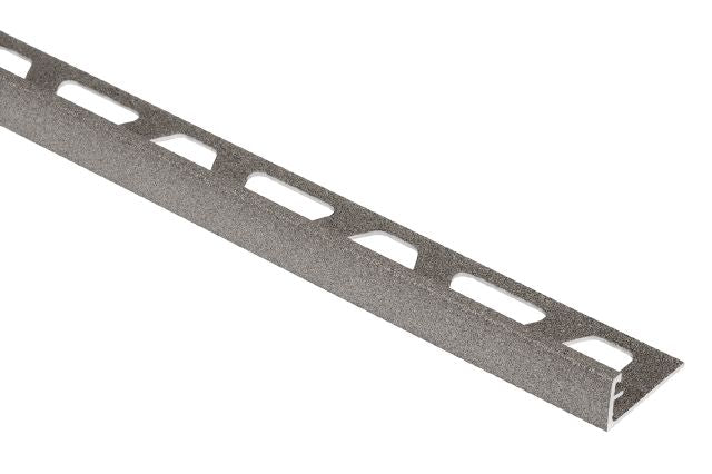 SCHLUTER JOLLY EDGE TRIM ALUMINUM STONE GREY